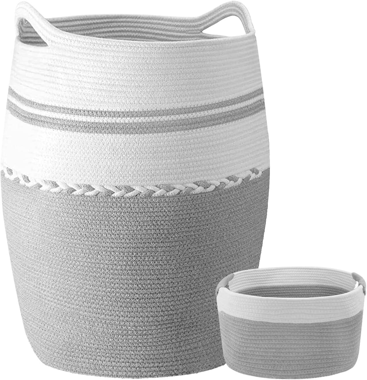 95L+17L Woven Laundry Hamper with Storage 25% OFF Lowest price challenge 2PCs Basket Handles