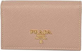 Prada Beige Saffiano Leather Credit Card Holder 1MC122