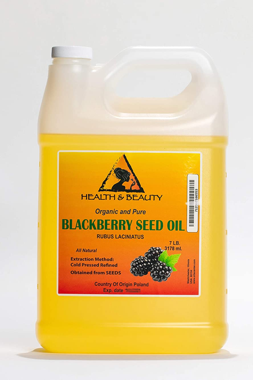 Blackberry Seed Oil Refined Organic Cold Pressed Premium Natural 100% Pure 128 oz, 7 LB, 1 gal