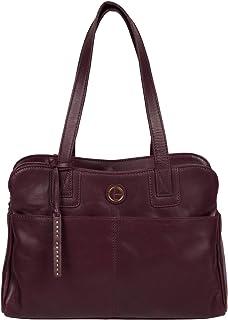 Pure Luxuries London Women Solid Genuine Leather Beacon Handbag