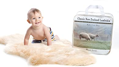 New Zealand Classic Lambskin, Ethically Sourced, Silky Soft Natural Length Wool, Un-Shorn Baby Care Rug, Premium Quality, Large Size 34 to 36 inches in Length