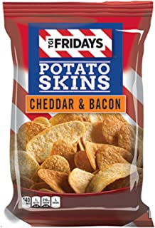TGI Friday's 4 oz Cheddar & Bacon Potato Skins Chips (3 Bags)