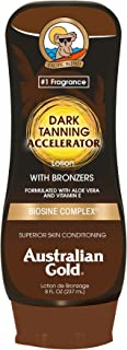 Australian Gold Dark Tanning Accelerator Lotion With Bronzer | 8 Ounce