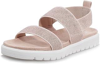 Sponsored Ad - shoeslocker Girls Sandals Summer Shoes Open Toe Elastic Back Strap Sandals Flat for Little Kids Big Kids