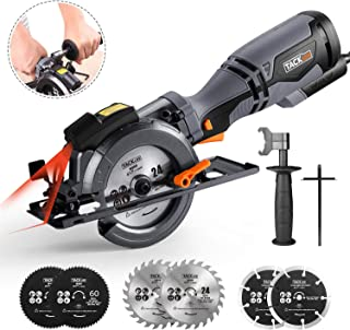 "TACKLIFE Circular Saw with Metal Handle, 6 Blades(4-3/4"" & 4-1/2""), Laser.."