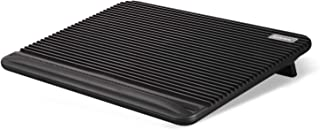 Laptop Cooling Pad, Coolertek USB Powered Laptop Cooler, 2 Blue Silent Big Fans, Height Adjustable Non-Slip Laptop Stand with Dual USB 2.0 Ports, Fits 11-17 Inch Notebook - Black (N2)