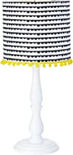 Abajur Infantil de Mesa, Carambola Luminárias, Estampado/Branco/Amarelo