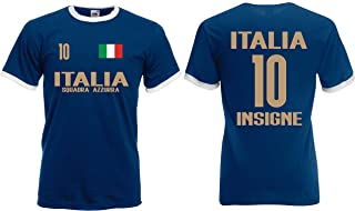 Italien Insigne Herren Retro Shirt EM 2020 Squadra Trikot Look Style
