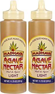 Madhava Organic, Agave Nectar Light, Squeeze Bottles, 11.75 oz, 2 pk