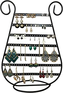 Tytroy Black Metal Harp Shaped Earring Organizer Jewelry Display (1 pc)