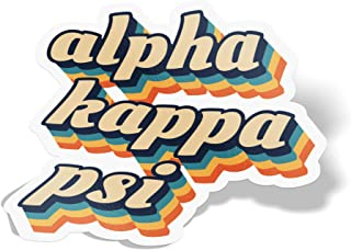 Desert Cactus Alpha Kappa Psi 70's Letter Sticker Decal Greek Tall for Window Laptop Computer Car AKPsi
