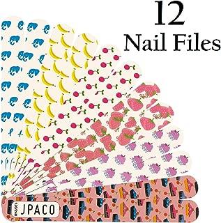 JPACO 12 PCS Professional Nail Files 120 240 Grit