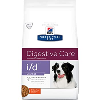 Hill's Prescription Diet Dry Dog Food, Veterinary Diet, i/d Low Fat Digestive Care, Chicken