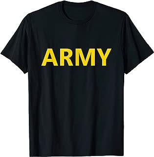 US Army APFU APFT Logo PT Gym Workout Training Uniform Gear T-Shirt