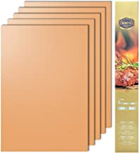 Aoocan Copper Grill Mat - Set of 5 Heavy Duty BBQ Grill Mats Non Stick, BBQ Grill & Baking Mats - Reusable, Easy to Clean Barbecue Grilling Accessories - Extended Warranty