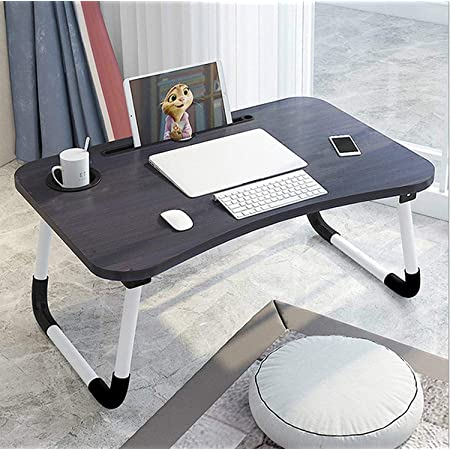"""Drawer Cup Holder Pen Holder with Cellphone Stand 24/""""x16/""""x12/"""" Set 2 pcs Foldable Bed Desk Laptop Lap Tray Table Couch Floor Multifunction Study Eating Green Wood Lap Desk /& Metal Legs"""