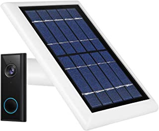 Wasserstein Weatherproof Solar Panel Compatible with Eufy Video Doorbell 2K (Battery-Powered) - Continuous Charging for Ma...