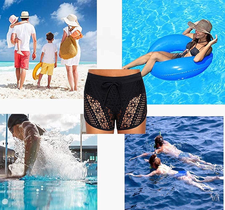 Costume da Bagno da Spiaggia Solido Elastico da Donna Pantaloncini da Bagno da Donna Pantaloncini Ccon Ggonna S-XXXL FuYang Slip Bikini con Gonna