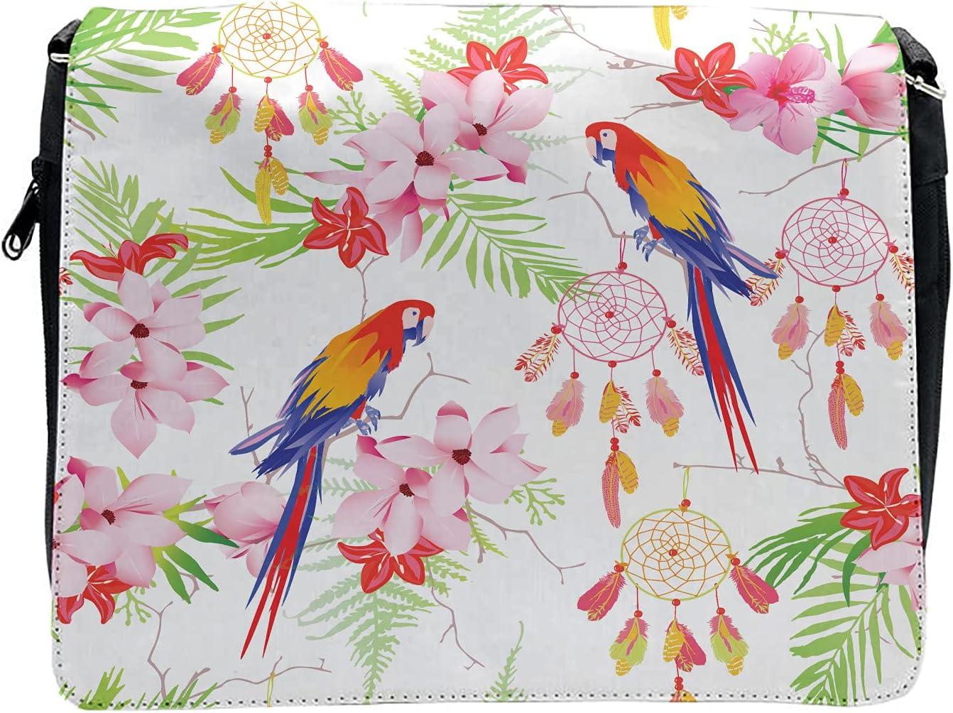Ambesonne Parrot Cross Body Messenger Bag, Native Forest, Unisex