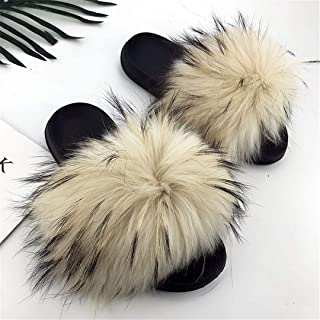 Cvieauj Chanclas Verano Zapatos de Playa Slippers Slip Shoes Furry Slippers