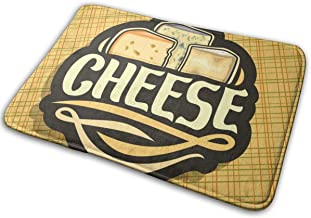 Decorative Doormat Home Decor Logo for Cheese Welcome Indoor Outdoor Entrance Bathroom Floor Mats Non Slip Washable Mat, 2...