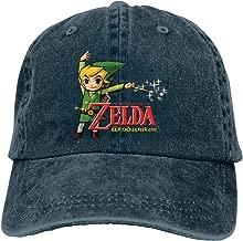 DADAJINN The Legend Zelda Wind Waker HD Adjustable Mountaineering Cotton Washed Denim Hats Black