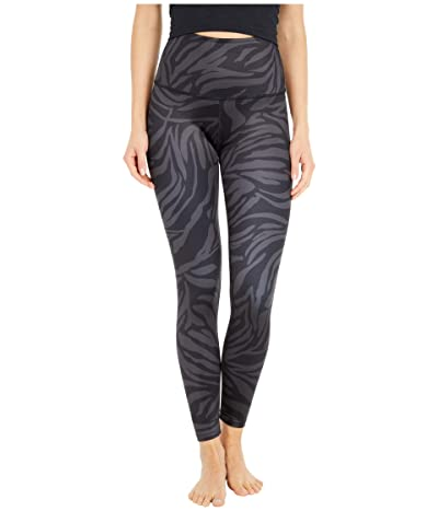 Beyond Yoga Lux High Waisted Midi Leggings (Black Tiger Stripe) Women
