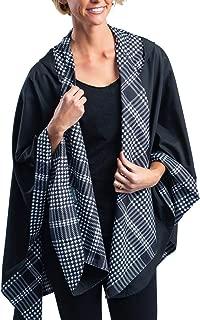 RainCaper Rain Poncho for Women - Reversible Rainproof Hooded Cape in Gorgeous Ultrasoft Colors (Choose Your Color)