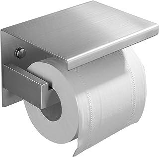 ZUNTO Toiletpapierhouder Zelfklevend Toiletrolhouder Roestvrij Staal met Plank Wc-Rolhouder Zonder Boren voor Badkamer en ...