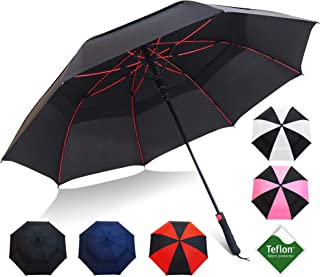 Repel Golf Umbrella with Triple Layered Reinforced Fiberglass Ribs Adorned in Red Paint, 60