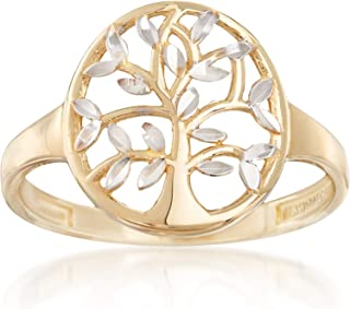 Ross-Simons 14kt 2-Tone Gold Cut-Out Tree Of Life Ring