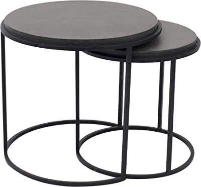 Moe's Home Collection Roost, Set of 2 Nesting Tables, Black