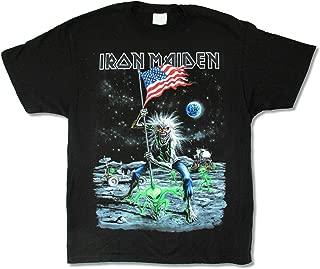 Iron Maiden Moonwalker Final Frontier 2010 US Tour Hanes Cotton T-Shirt