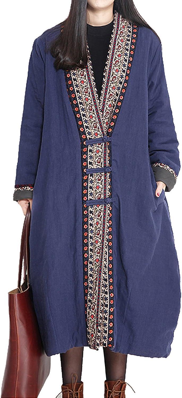 Fancy beautystyle Women's Winter Thicker Cotton Jacket Plus Size Coat Vintage Long Coat