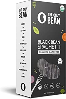 The Only Bean - Organic Black Bean Spaghetti Pasta, Gluten Free Noodles (8oz) (1 Pack)