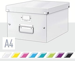 Leitz Boîte de Rangement A4, Click & Store, 60430001, Blanc