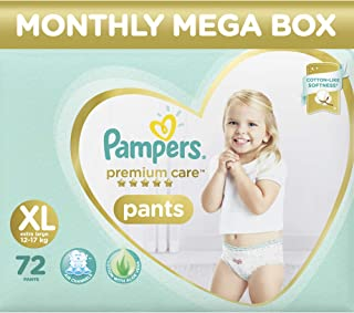 Pampers Premium Care Pants Diapers Monthly Box Pack, XL, 72 Count