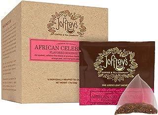 Joffrey's Coffee - African Celebration Tea, Herbal Tea, Rooibos Red Tea, Vanilla, Almond, Mandarin Orange, Floral & Herb B...