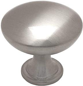 "25 Pack - Cosmas 5305SN Satin Nickel Traditional Round Solid Cabinet Hardware Knob - 1-1/4"" Diameter"