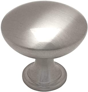 25 Pack - Cosmas 5305SN Satin Nickel Traditional Round Solid Cabinet Hardware Knob - 1-1/4