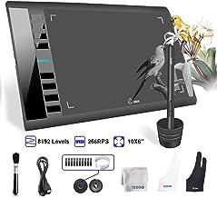 Tableta grafica ugee m708 10x6 pulgadas Área activa grande Ugee m708 con 8 teclas de acceso rápido, 8192 niveles de pluma, Tableta Ugee m708 para pintura, dibujo de creación de arte digital
