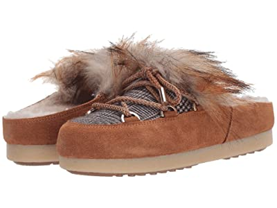 MOON BOOT Moon Boot(r) Far Side Sabot Faux Fur (Whiskey) Women