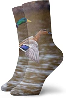 OUYouDeFangA, Duck Bird Aterrizaje Adulto Calcetines de Algodón Gimnasio Cortos Calcetines Para Yoga Senderismo Ciclismo Cor