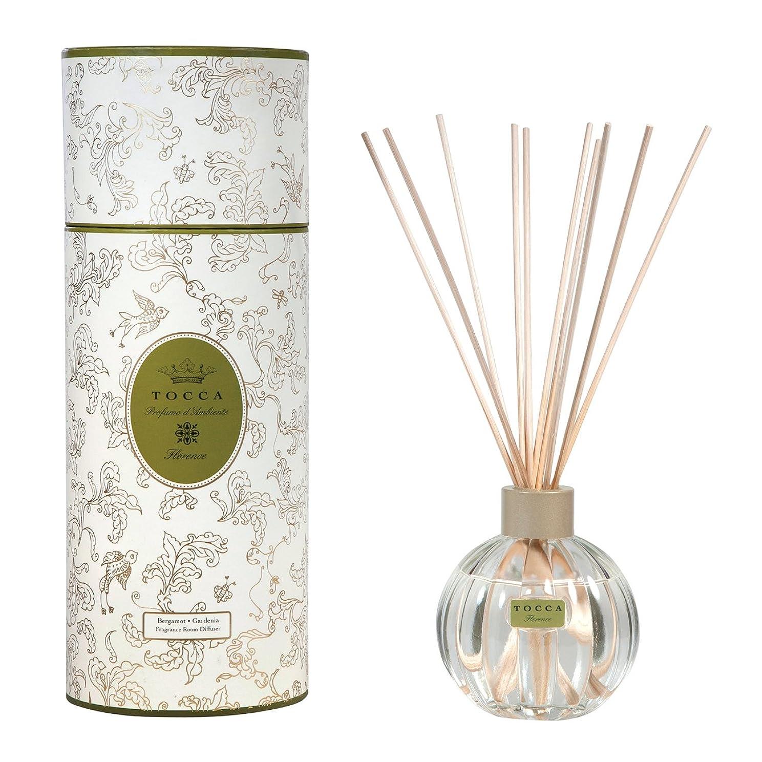 太い振る舞い狂乱トッカ(TOCCA) リードディフューザー フローレンスの香り 175ml 3~4ヶ月持続(芳香剤 ルームフレグランス ガーデニアとベルガモットが誘うように溶け合うどこまでも上品なフローラルの香り)