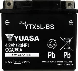 YUASA 台湾 ユアサ バイク用 バッテリー 液入り 充電済み (YTX5L-BS)