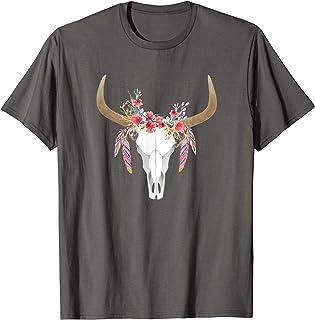 large black pogo rodeo cow skull t shirt