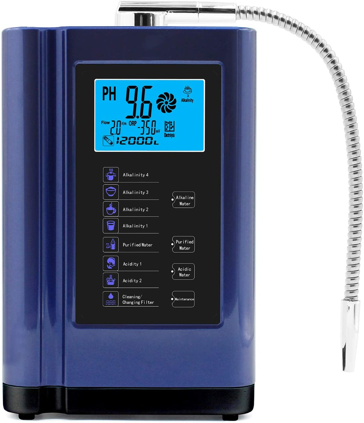 Alkaline Water Ionizer Up Free shipping / New to PH 3.5-10.5 Puri Max 49% OFF -500mV ORP