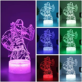 Raven Skins Fortress Table Desk Lamp 7 Colors Touch Switch 3D Visual LED Lava Light Acrylic Illusion Room Lighting Toys Gifts (Raven Crackle Base)
