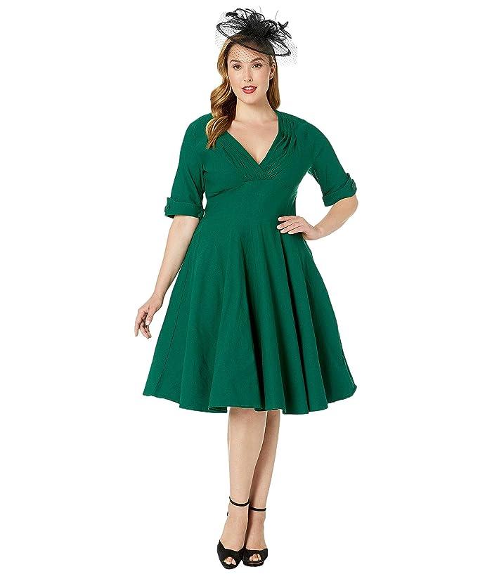Unique Vintage Plus Size 1950s Delores Swing Dress with ...