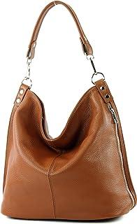 modamoda de T177 - ital. Damen Schultertasche aus Leder